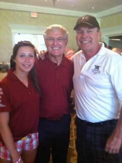 Olivia, Coach and Bob after a great day.