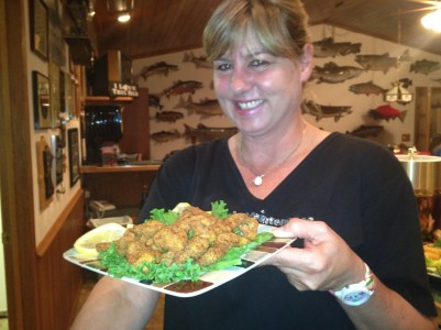 Kris Winkelman grilled up some great shrimp for Babe, Bob, and guests at their home in Brainerd Minnesota.