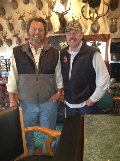 Babe and Bob relaxing in Babe's trophy room after dinner.