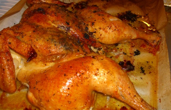 Spatchcocked Lemon Garlic Rosemary Chicken