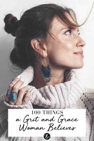 100 Things a Grit and Grace Woman Believes PIN