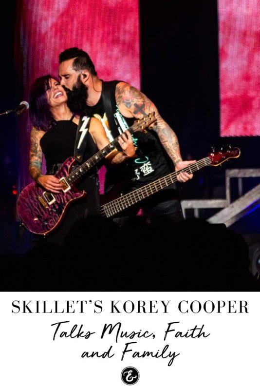 Skillet's Korey Cooper Talks Music, Faith and Family PIN