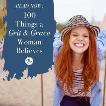 100 things a grit and grace woman believes board
