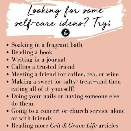 Self care ideas board