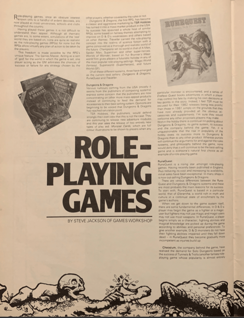 The GROGNARD Files | Table-top RPGs from back in the day and