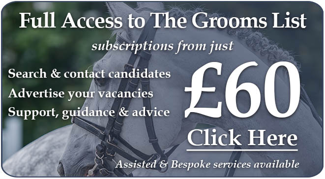 Search and Contact Equine Jobseekers on The Grooms List