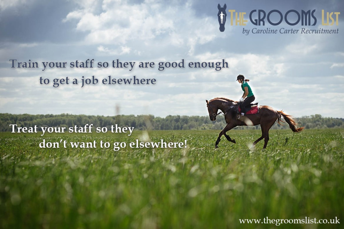 The Grooms List - Treat your staff so they don't want to go elsewhere - Caroline Carter Recruitment