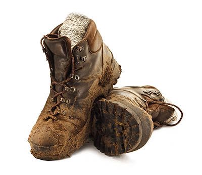 Maintaining Yard Boots - How To Ensure Your Boots Last Longer - Muddy boots