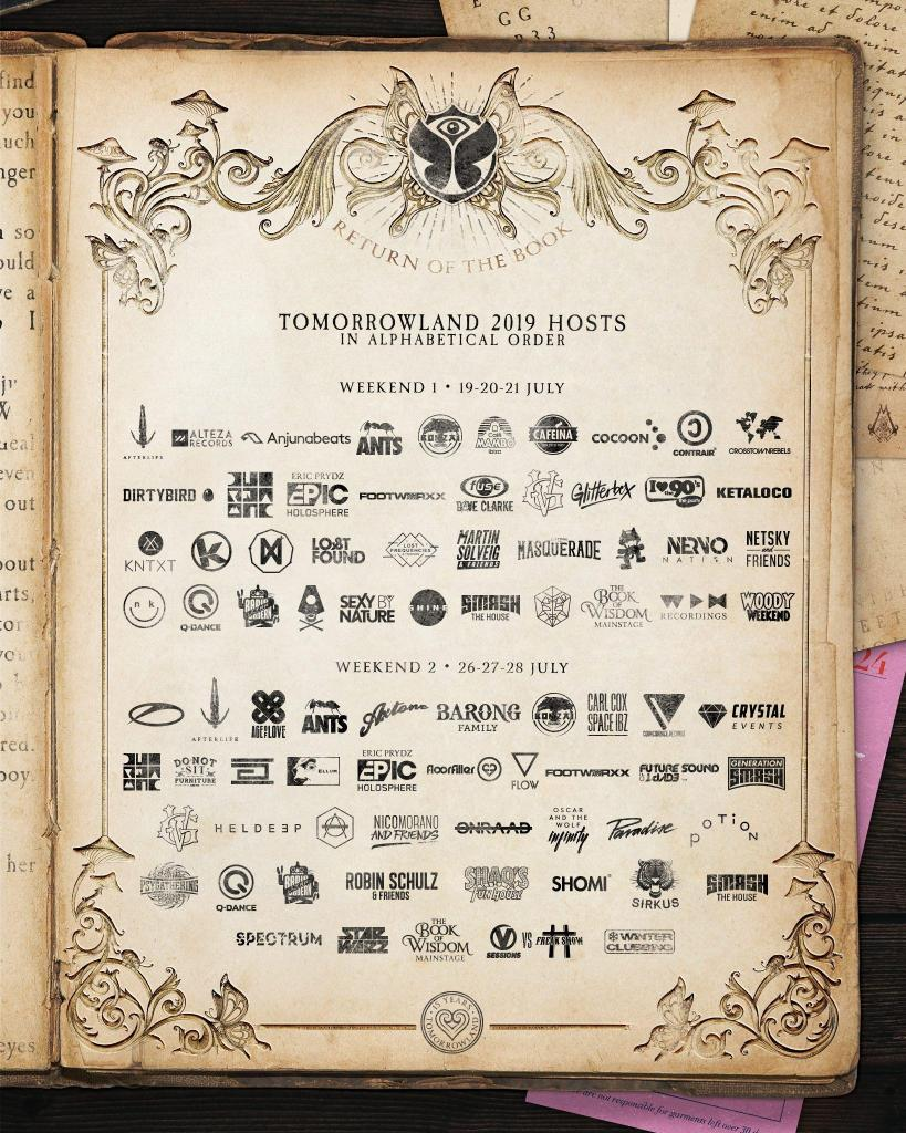 Tomorrowland 2019 hosts