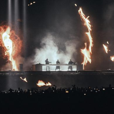 Swedish House Mafia on stage at Tele2 Arena