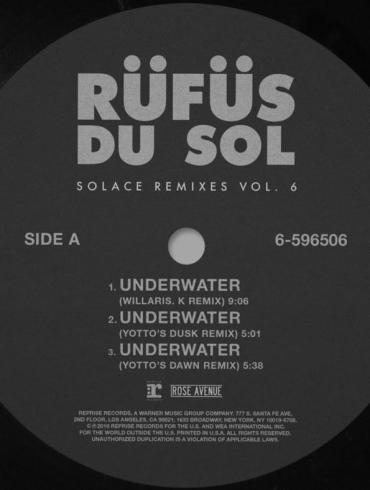 RÜFÜS DU SOL Solace Remixes Underwater Yotto Willaris. K