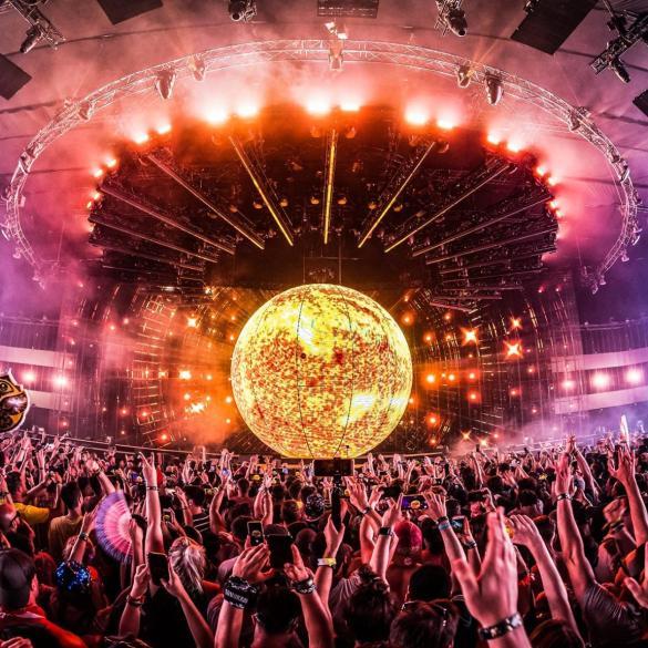 Tomorrowland Freedom stage holosphere