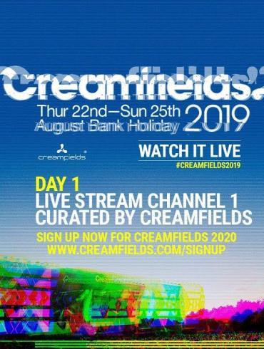 Creamfields 2019 live stream schedule lineup