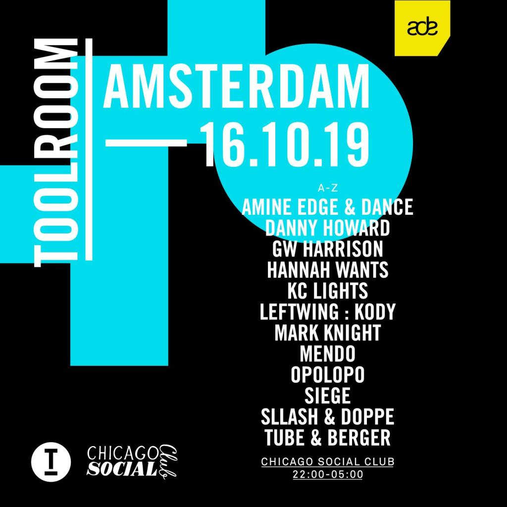 Toolroom ADE Amsterdam Dance Event lineup 2019