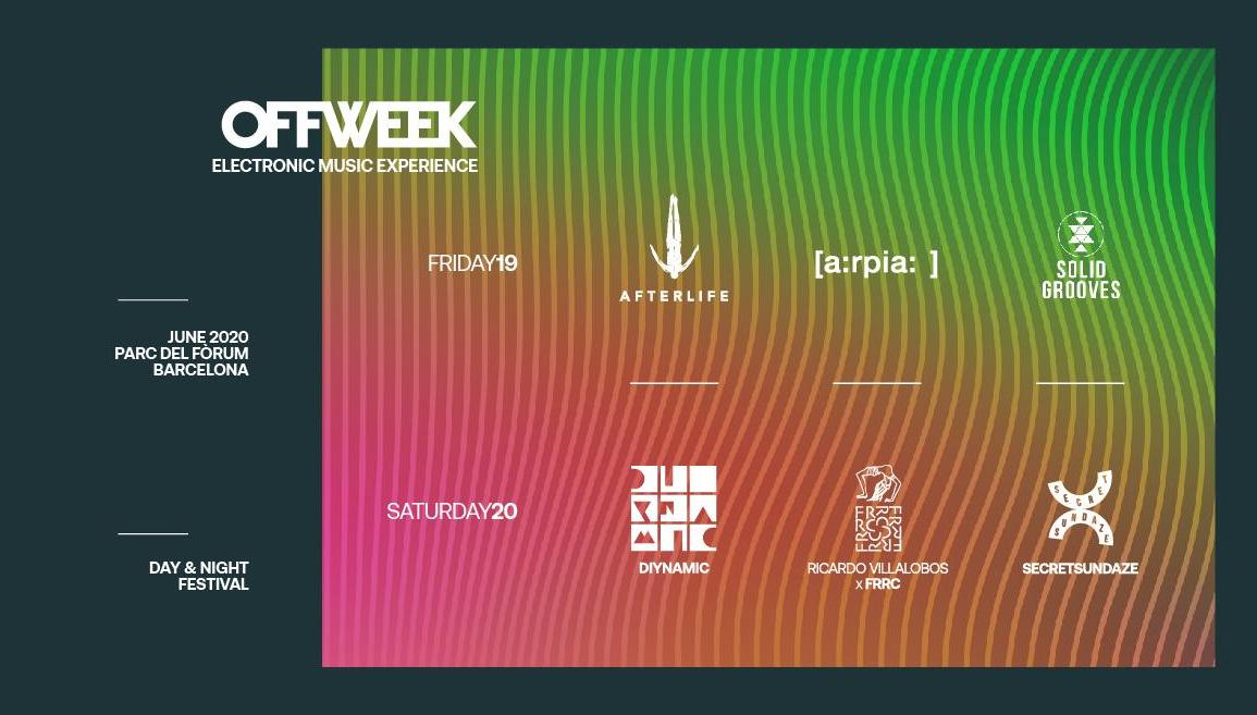 OFF WEEK Festival Barcelona 2020 guide