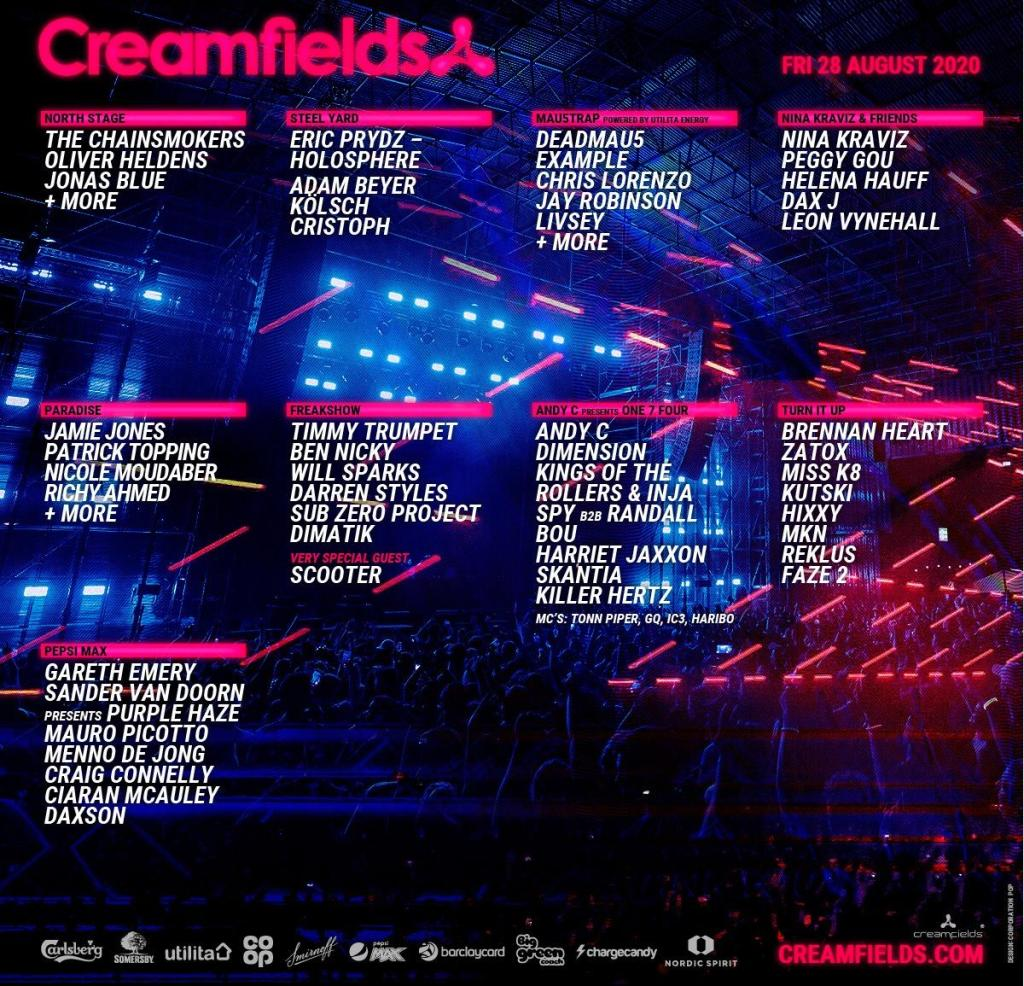Creamfields 2020 lineup Friday