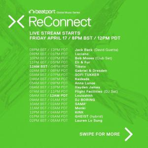 Beatport ReConnect 2 lineup schedule day 1