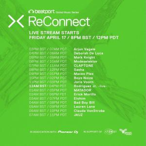 Beatport ReConnect 2 lineup schedule day 2