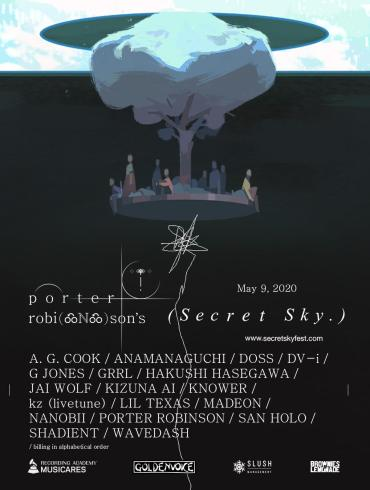 Porter Robinson Secret Sky Virtual Festival flyer