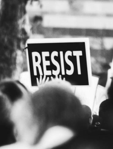 Resist protest stock photo