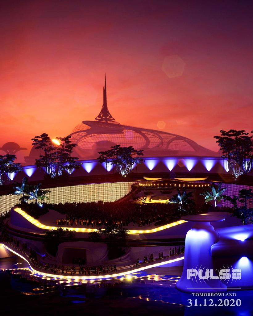 PULSE stage Tomorrowland NYE 2020