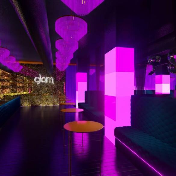 London's new club Glam main room