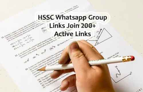 HSSC Whatsapp Group Link