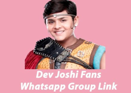 Dev Joshi Fans Whatsapp