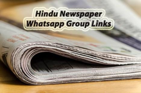Hindu Newspaper Whatsapp Group
