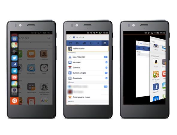 Aplicación web de Facebook: Lanzador, app y multitarea