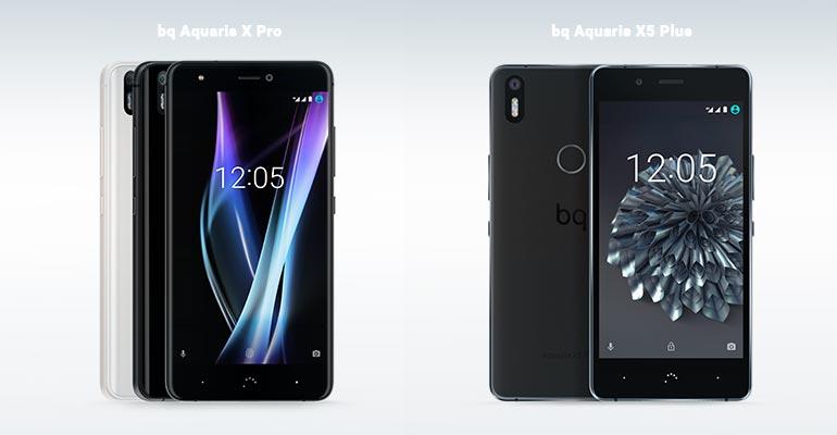 bq Aquaris X Pro vs bq Aquaris X5 Plus