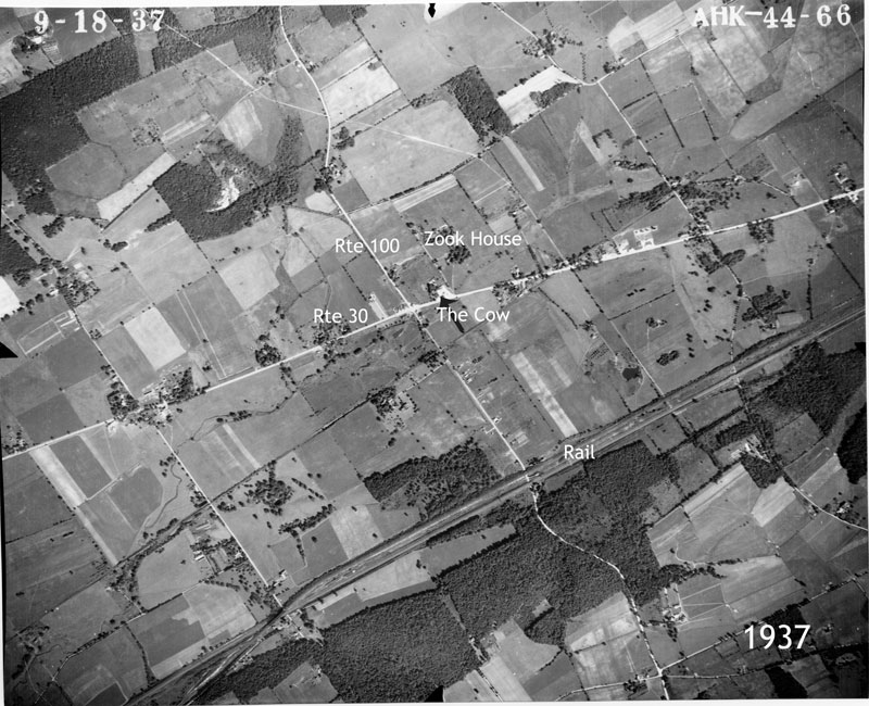 Aerial Photo of Exton, PA (Chester County) in 1937