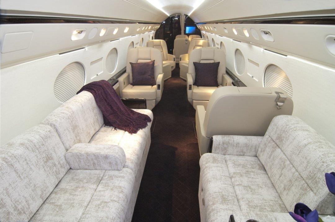 Luxury Barbados Private Jet interior