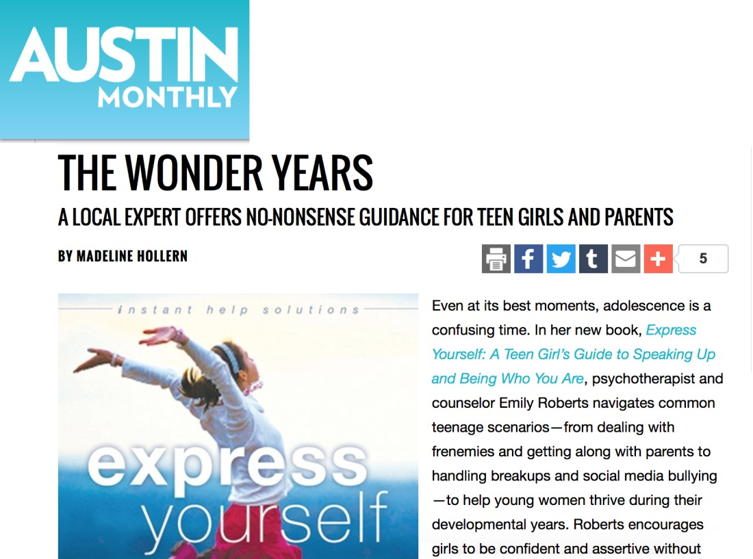 Emily Roberts in Austin Monthly