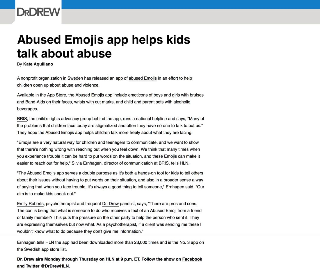 Abused Emojis app helps kids talk about abuse