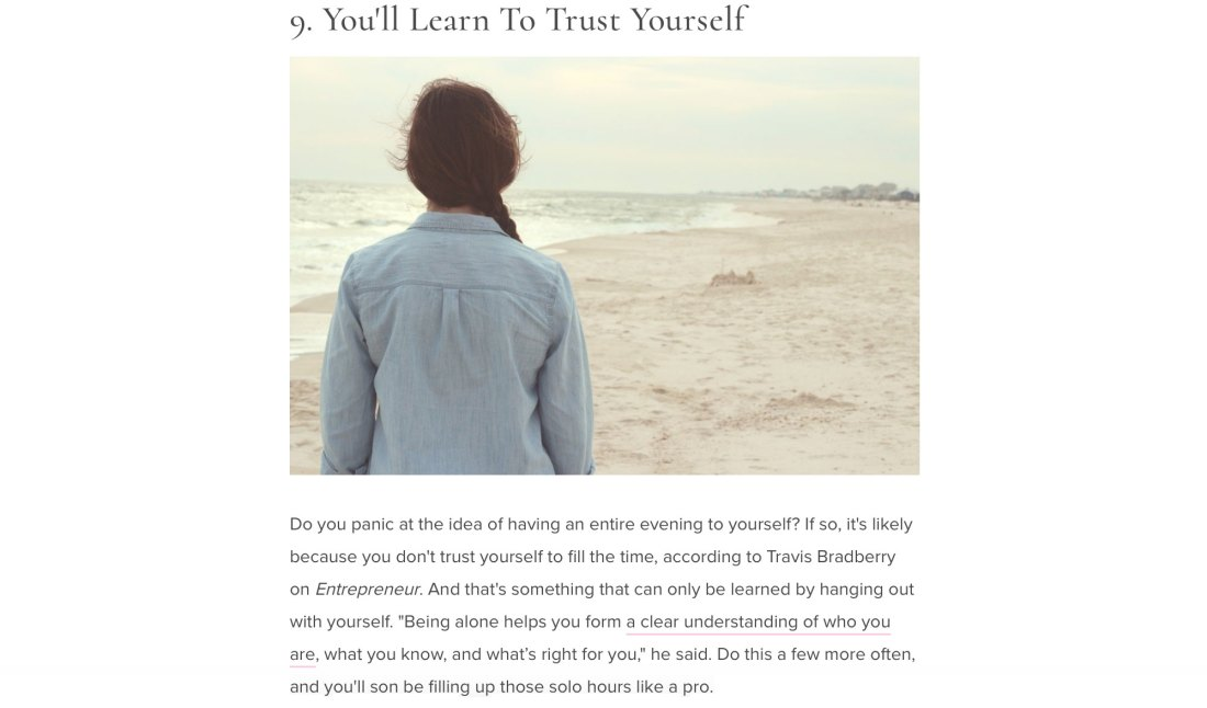 11 Healthy Reasons Why You Should Spend This Weekend Alone page 11
