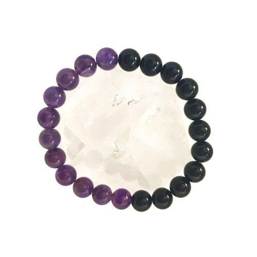 8mm Amethyst Onyx Bracelet