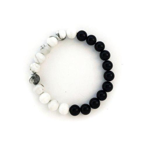 8mm White Howlite Onyx Bracelet