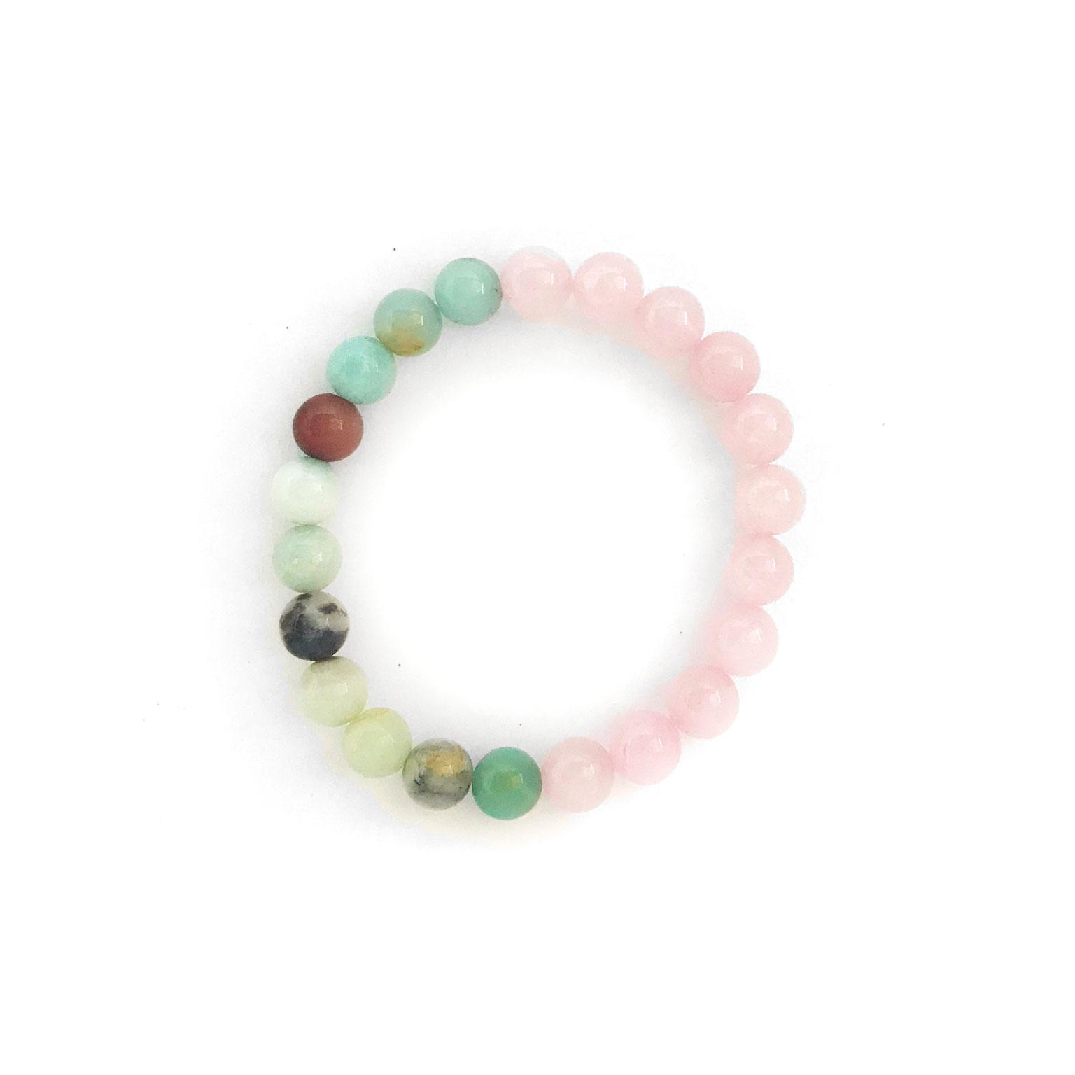 Amazonite and Rose Quartz Bracelet