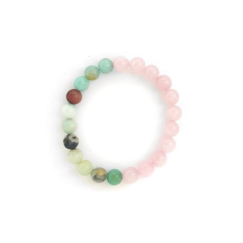 Amazonite and Rose Quartz Bracelet