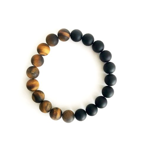 10mm Soft Matte Tiger's Eye and Onyx