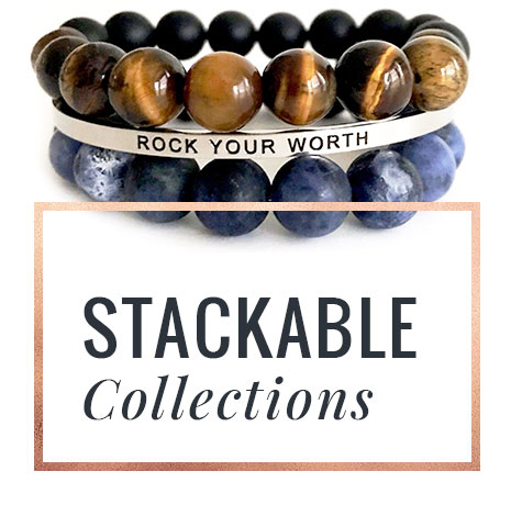 Rock Your Worth Stackable Bracelets