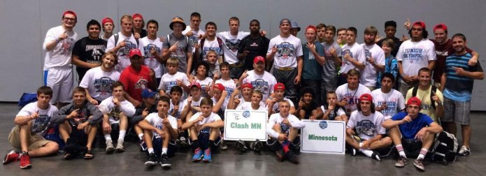 Minnesota team members for the AAU Junior Olympic Games Freestyle Duals. Photo courtesy of Pat Priebe.