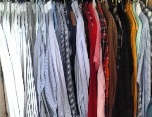 Sales - rack of clothes