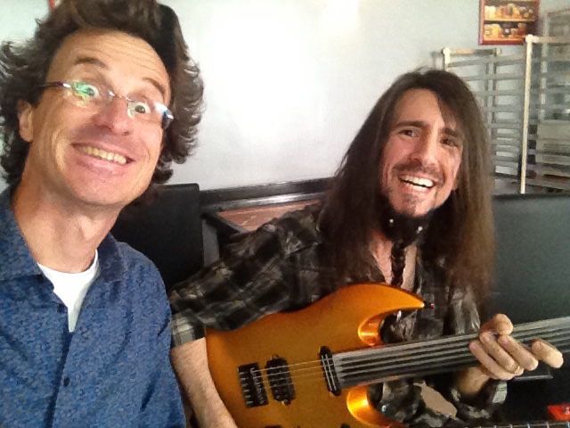 Selfie Ron Bumblefoot Thal and Pierre Journel