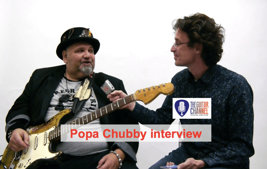 Interview guitar in hand with the Big, Bad and Beautiful @PopaChubb