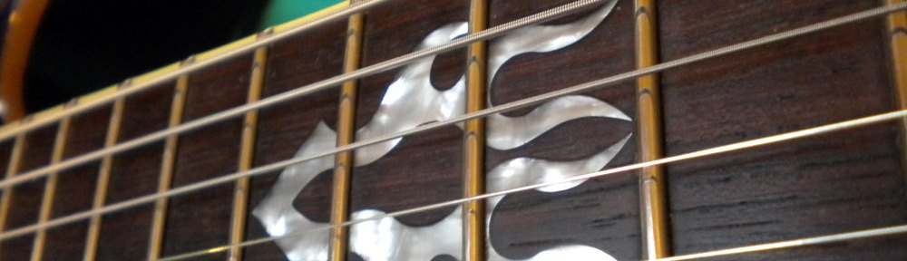 Ibanez SZ520QM Flame 12th fret Inlay