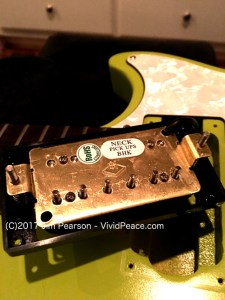 The Gibson M2 Neck pickup backside view. Photograph by VividPeace.com