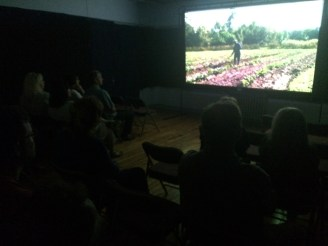 Filmmakers and attendees gather to watch The Gullah Project during the documentary block of the festival.