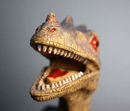 Dinosaur teeth on cosmetic dentistry Glasgow exhibition